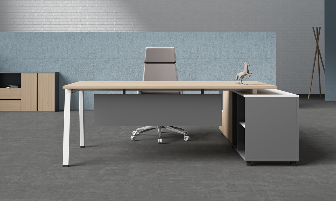 Boss Plywood L Type Executive Office Table Design (HC-Yage)